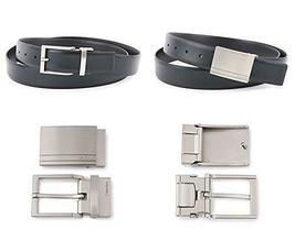 Calvin Klein Ck Men's Reversible Leather Buckle Belt 3 Piece Gift Box Set 74384 image 5