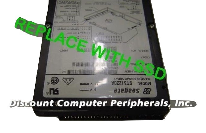 "Seagate ST31220A 3.5"" IDE Drive Replace with this SSD 2GB 40 PIN IDE Card"