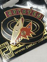 NHL Phoenix Arizona Coyotes VTG Logo Pin Peter David Puck Coyote New NOS image 3