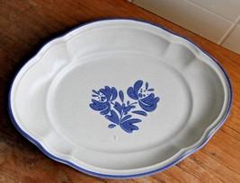 vtg Pfaltzgraff Yorktowne Oval Scallop Au gratin Relish Dish Plate USA - $9.90