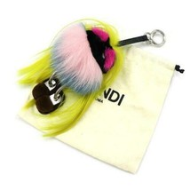 FENDI Wonders Monster Charm Mom A0969 Cute Yellow Pink Color Used - $683.99