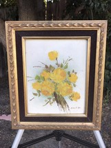 ROBERT COX Original Floral Oil Painting on Board 1970s Vintage Signed & ... - $135.00