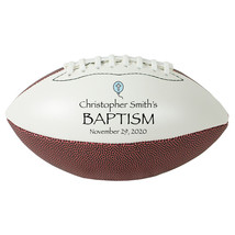 "Personalized Custom Mini 9"" Football Blue Balloon Baptism Gift - $34.95"
