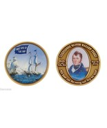 "NAVY COMMODORE OLIVER HAZARD PERRY DON'T GIVE UP THE SHIP 1.75"" CHALLENGE COIN - $15.51"