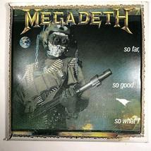 MEGADETH Wood Wall Hanging -So Far, So Good, So What! 13 x 13 1988 Heavy... - $33.90