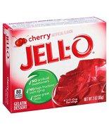 JELLO Instant Cherry Gelatin Dessert Mix (3oz Boxes, Pack of 6) - £10.60 GBP