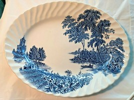 Ironstone Swinnerstons The Ferry England Blue & White Platter - £17.25 GBP