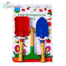 Kids Garden Tool Set Rake Spade Trowel Shovel Outdoors Sand Toys Summer ... - $16.79
