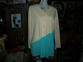 DIANE VON FURSTENBERG Beautiful Button Down Blouse Size M - $23.76