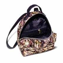 Sonia Kashuk Distress Floral Gold Foil Backpack Travel Cosmetic Case NWT image 2