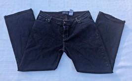 Women's Levi's Juniors 17 Stretch Low Rise Slim Bootcut Black Jeans Authentic - $11.88