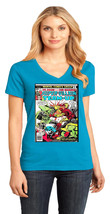 Doctor Doom District Made Ladies Perfect Weight V-Neck T-Shirt Size XS To 4XL - $19.99+