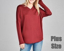 Plus Size Hacci Sweater, Soft Taupe Sweater, Relaxed Plus Size Sweater, Burgundy