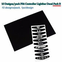 10 pcs / lot LED light Bar Cover Decal Sticker for Sony PS4 Controller Station - $10.59