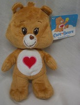 "Care Bears SOFT BROWN TENDERHEART BEAR 8"" Plush STUFFED ANIMAL Toy NEW - $18.32"