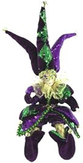 "Primary image for Mardi Gras Jester Plush Doll, 9"" Tall"