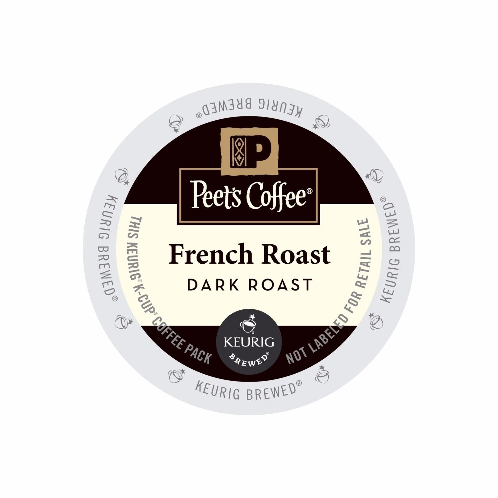 Peet's Coffee French Roast Coffee, 22 count K cups, FREE SHIPPING !