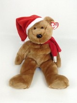 Holiday Teddy Bear 1997 Christmas Plush Stuffed Toy with Tags Ty Beanie Buddies - $12.82