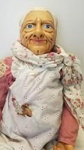 "Vtg 1980 Billie Peppers 30"" Grandma Grandmother Woman Doll Granny Meemaw Nana image 2"