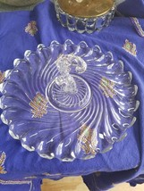 VINTAGE FOSTORIA GLASS COOKIE PLATTER W/ MIDDLE HANDLE - COLONY PATTERN ... - $16.69