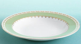 "Martha Stewart Wedgwood GARLAND MOSS RIM SOUP 9"" MADE IN ENGLAND BONE CHINA NEW  - $99.75"