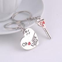 Alloy Heart Lover Love K Sweetheart Couple keychain Keyring - $5.99+