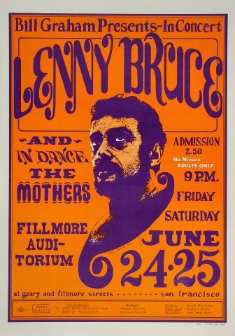 Lenny bruce poster 11x17