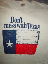 Don't Mess With Texas Beige T-Shirt Size Large - $19.00