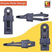 Wellmax Heavy Duty Tarp Clips 12 Pieces, Multi-Purpose Awning Clamps Set with St image 5