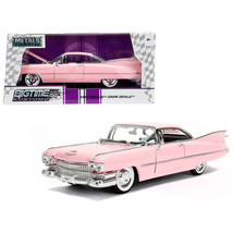 1959 Cadillac Coupe DeVille Pink 1/24 Diecast Model Car by Jada 96801 - $34.48