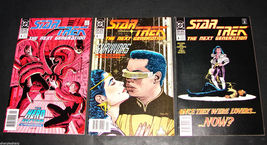 3 1990 DC Comics STAR TREK NEXT GENERATION 4, 5, 6, F-VF Comic Books - $11.69