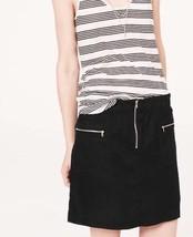 Lou & Grey Ann Taylor LOFT Linen Skirt size XS Stretch Waist Black Casual - $28.95
