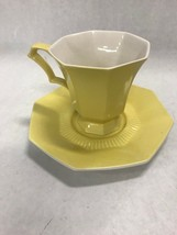 6 sets cup saucer  Vintage Independence Ironstone Interface JAPAN yellow... - $49.49