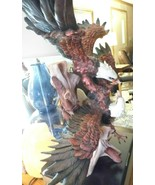 Rare Montifiore Collection Fighting Eagles Beautiful, Heavy Statue, 2 minor dama - $113.99
