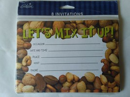 Let's Mix It up Party Invitations 8ct Mixed Nuts - $6.92