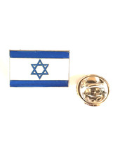 israel country flag design. Lapel Pin Badge / tie pin in gift box