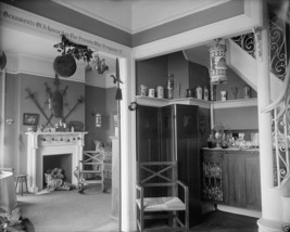 Interior of a home decorated for Christmas early 1900's - New 8x10 Photo - $8.81