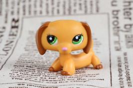 LPS Dachshund Dog Puppy Variant Yellow Green #2597 - $98,23 MXN