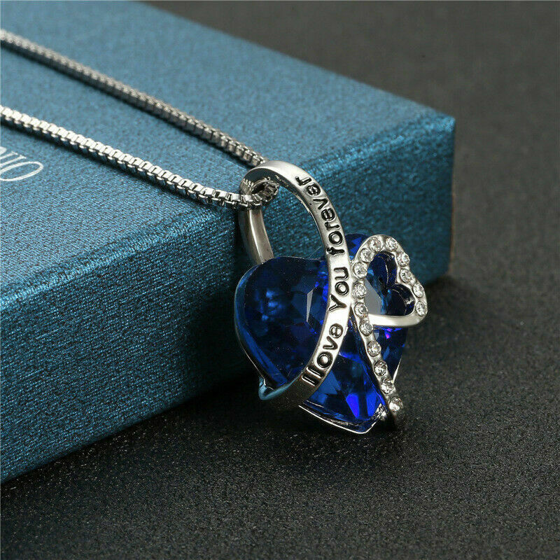 925 Sterling Silver Necklace 18mm Bermuda Blue Rivoli Crystals from Swarovski®