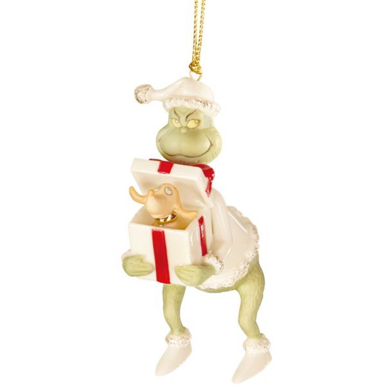 Lenox Grinch's Perfect Present Ornament Max How The Stole Dr Seuss Christmas NEW