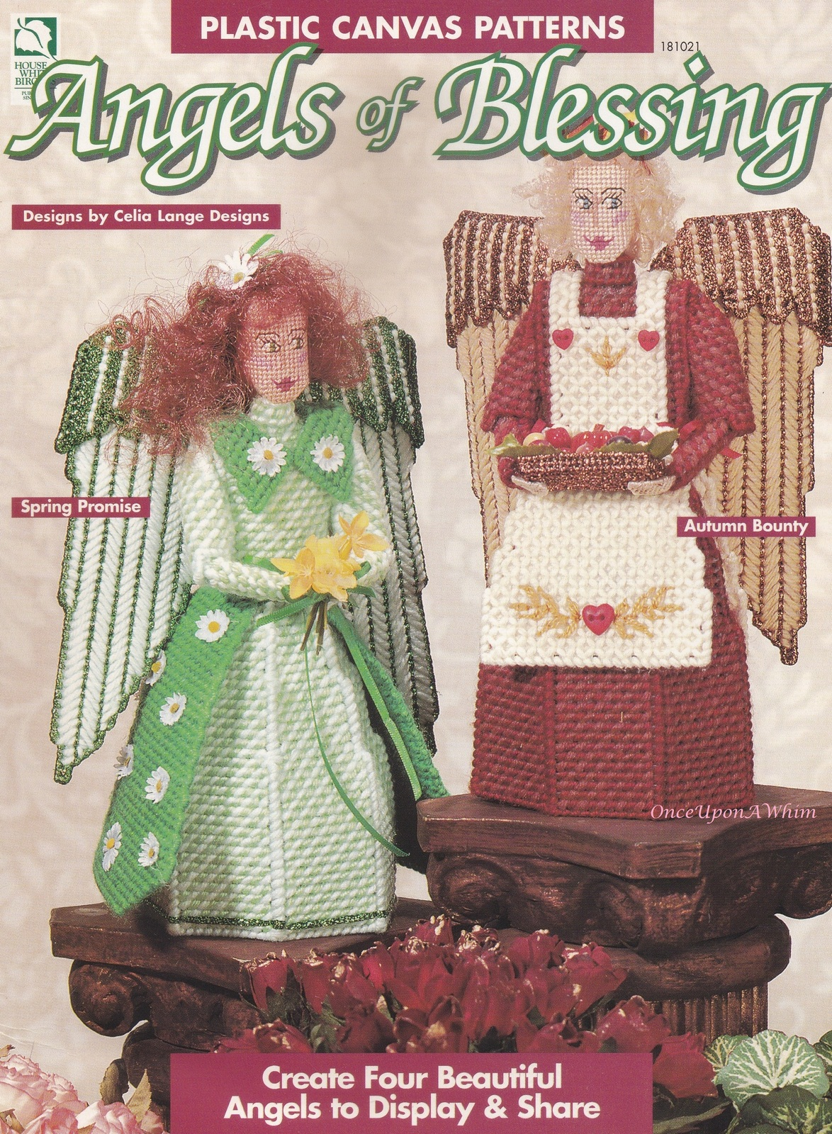 Primary image for Four Seasons Angels of Blessing, Plastic Canvas Pattern Booklet HWB 181021 NEW