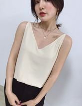 Sleeveless Pale Blue Chiffon Top V-Neck Chiffon Tank Top Bridesmaid Chiffon Top image 12