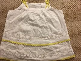 Tommy hilfiger girls tank top blouse white crochet sz L 12-14 white - $14.84