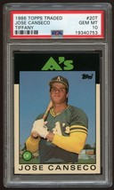 1986 Topps Traded Tiffany JOSE CANSECO #20T Rookie Card RC - PSA 10 - $599.99