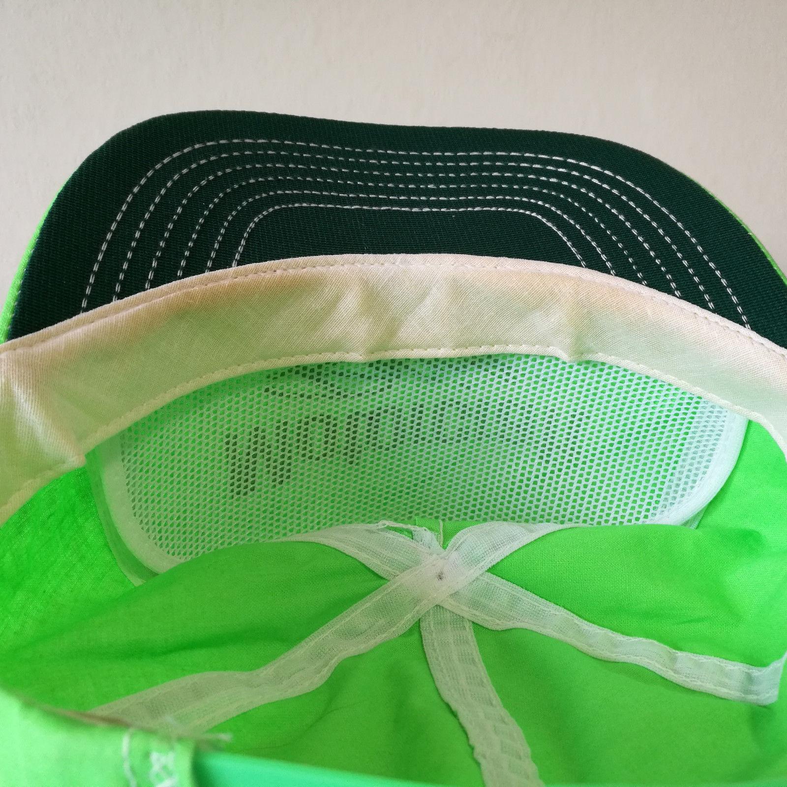 Vintage Motorcraft Racing Snapback Neon Green Hat Made in USA