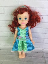 Tollytots Disney Little Mermaid Ariel Toddler Doll With Outfit Tiara Tolly Tots - $29.69