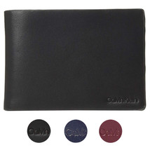 Calvin Klein CK Men's Genuine Leather Slimfold Embossed Logo Wallet 79814