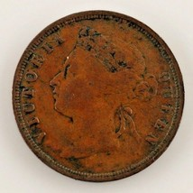 1872-H Straits Settlement 1 Cent Coin (VF+) Very Fine Plus Condition - $59.40