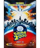"POKEMON 2000-27""x40"" D/S Original Movie Poster One Sheet Ash & Pikachu - $48.99"