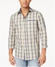 $70 Sean John Men's Cotton Plaid Shirt, Vapor Blue, Size 3XL - $24.74